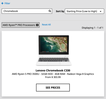 AMD已经确认Ryzen处理器即将用于Chromebook笔记本电脑