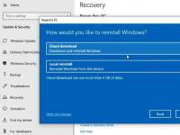 Windows 10现在可以从云端重新安装