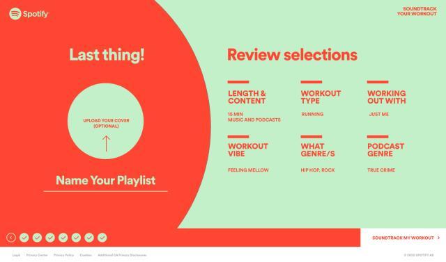 Spotify的最新播放列表工具可创建适合您锻炼方式的混音