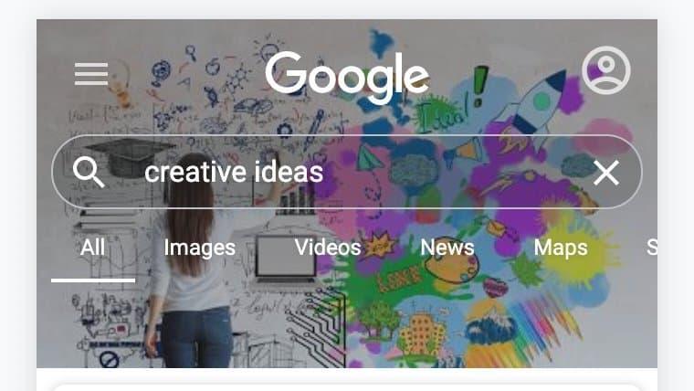 Google正在移动版Google搜索中测试自定义背景照片